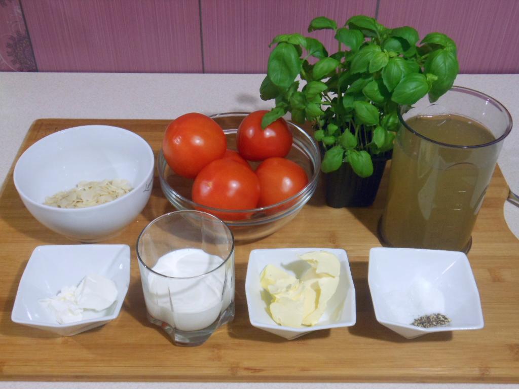 Zupa krem z pomidorów z migdałami - składniki