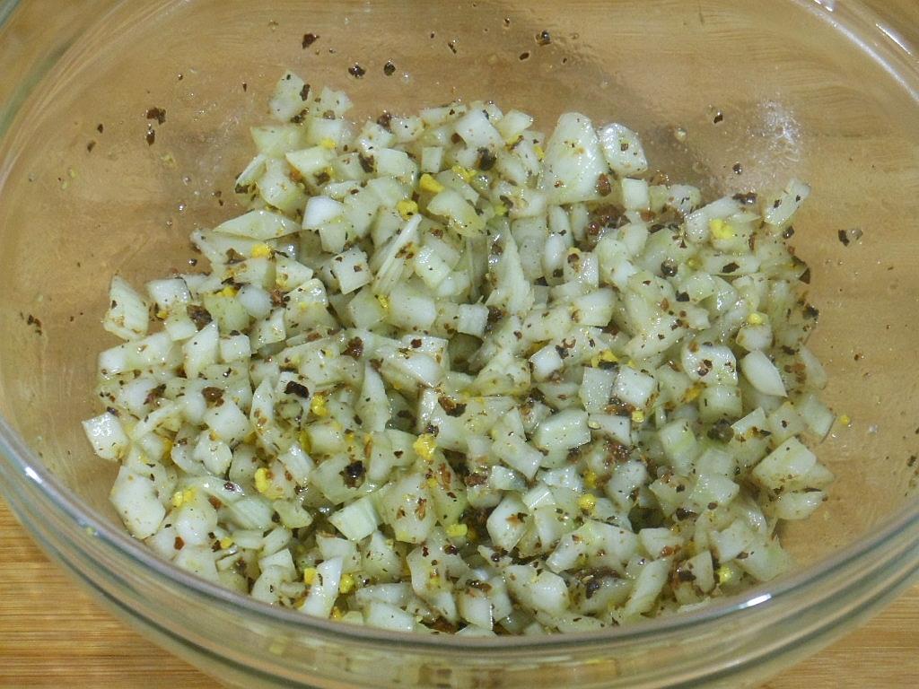Fenkuł, zioła i przyprawy wymieszane z oliwą