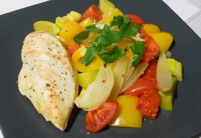 Filet z kurczaka z warzywami a la ratatouille