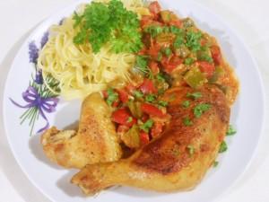 Kurczak z papryką po węgiersku