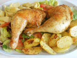 Grillowane nogi z kurczaka z cytryną i rozmarynem