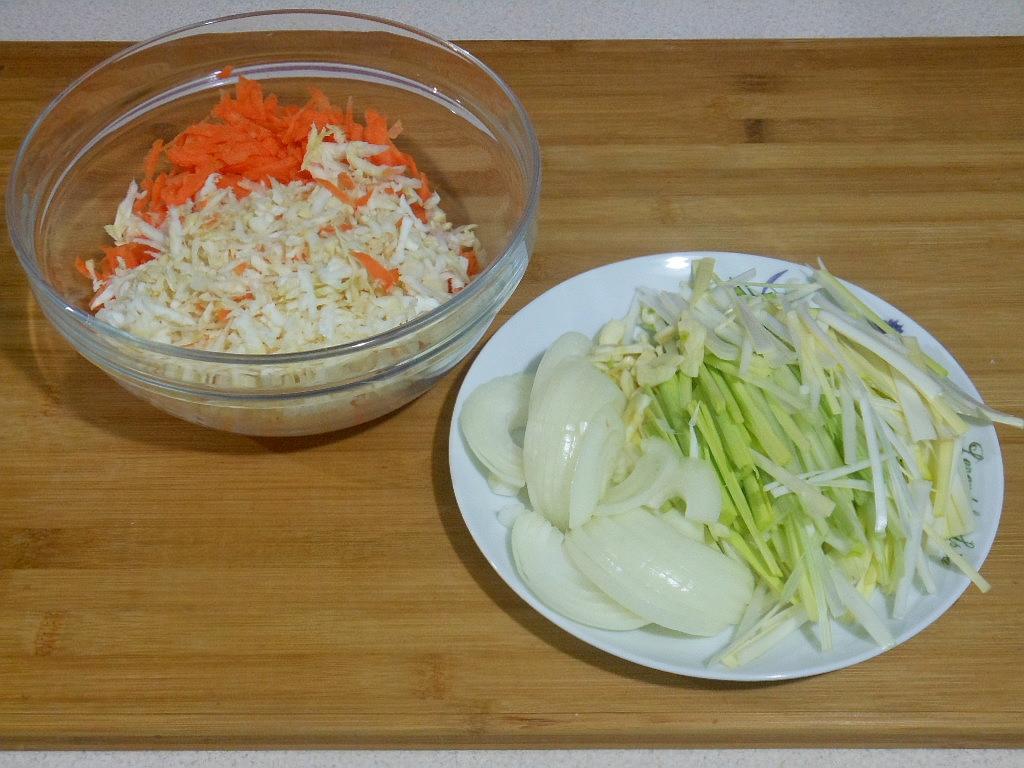 Starte i pokrojone warzywa