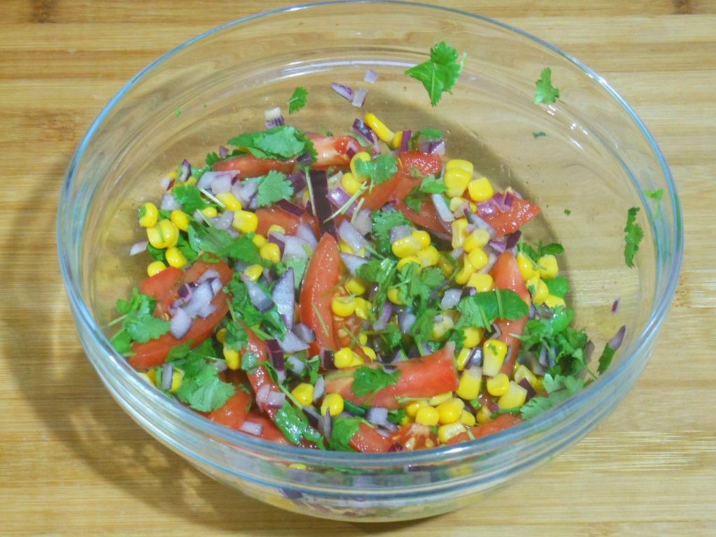 Pokrojone i wymieszane warzywa