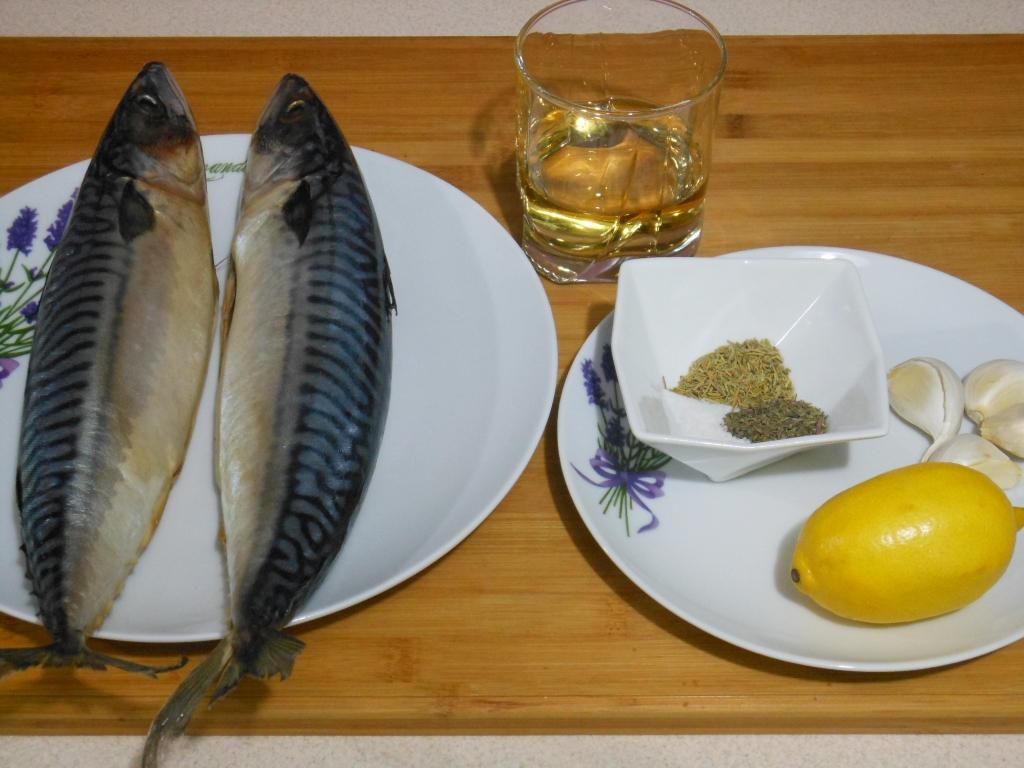 Składniki wyjściowe - ryby i marynata