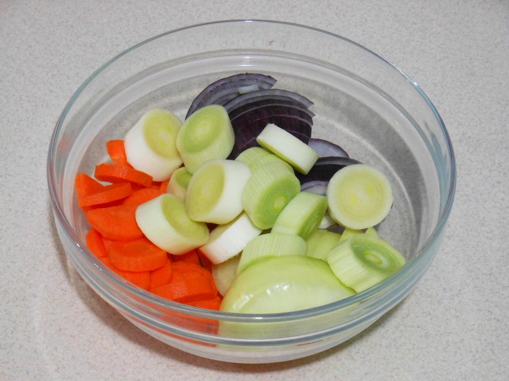 Pokrojone warzywa...