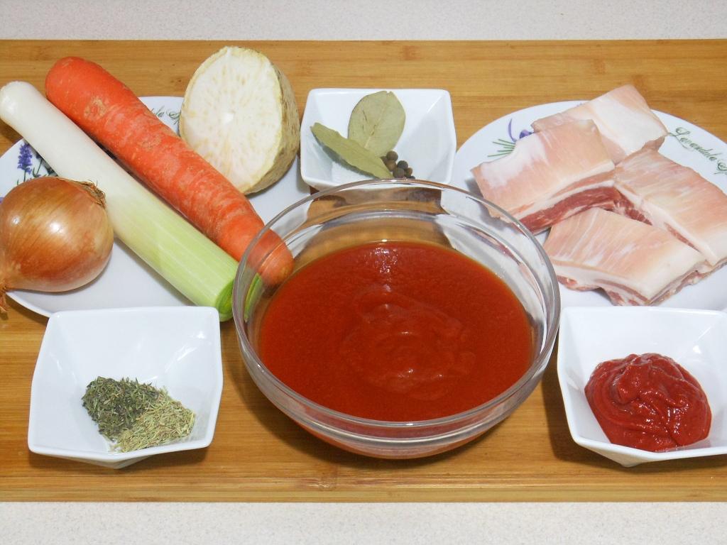 Składniki - zupa